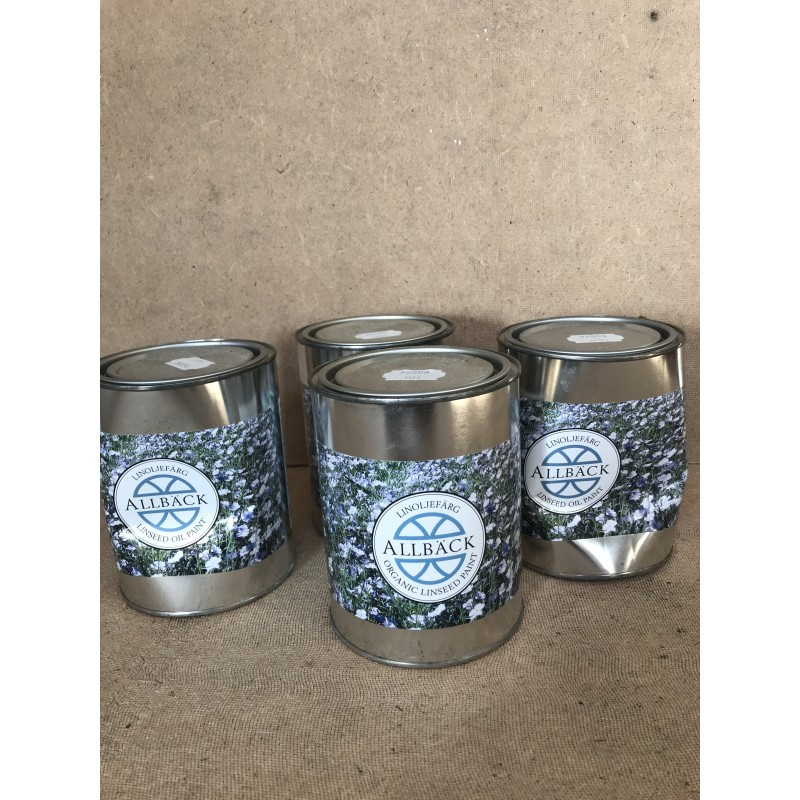 Uåbnet linolie maling havregrød 1 liter