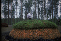 Finsk tjæremile før antændning