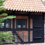 Danmarks ældste daterede bindingsvækshus, fra 1527, Køge.