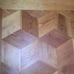 Originalt gulv i pitch pine, Kbh Rådhus
